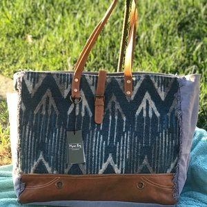 Myra xl spacious BOHO Bag Denim Blue TRAVEL